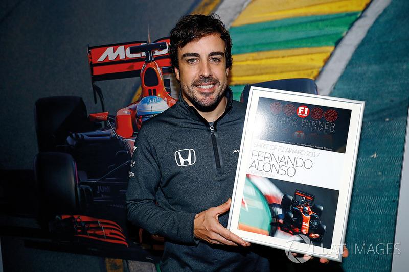 Fernando Alonso, McLaren, Premio espíritu F1 2017