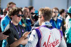 Sam Bird, DS Virgin Racing, lors de la conférence de presse