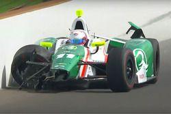 Spencer Pigot, Juncos Racing Chevrolet crash