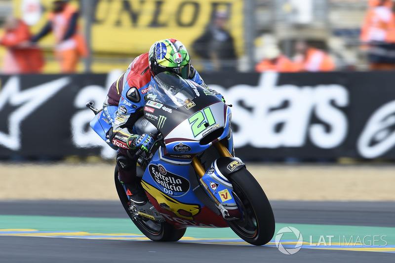 A corrida da Moto2 foi menos animada. Franco Morbidelli passou Thomas Luthi ainda na primeira volta e conquistou sua quarta vitória em cinco provas.