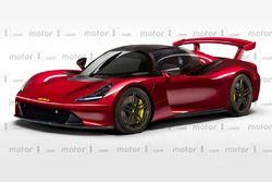 Motor1 Dallara yol otomobili çizimi