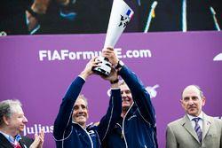 Alain Prost et Jean Paul Driot sur le podium