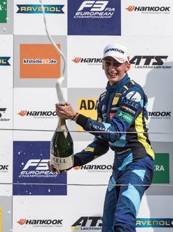 Podium: second place Ferdinand Habsburg, Carlin, Dallara F317 - Volkswagen