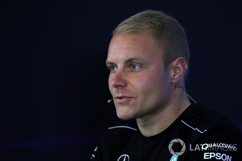 Valtteri Bottas, Mercedes AMG F1 nella conferenza stampa