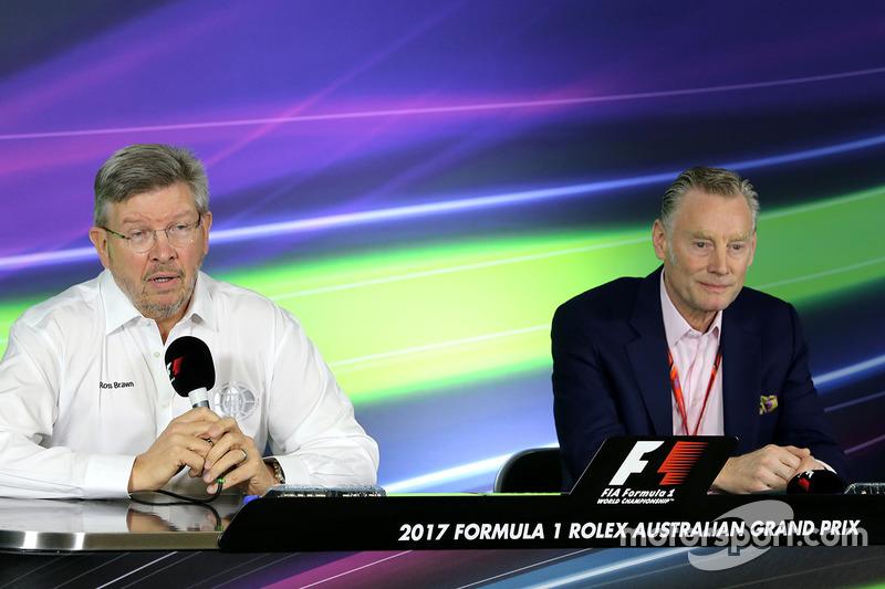 Ross Brawn, Formel-1-Sportchef, und Sean Bratches, kommerzieller Leiter der Formel 1