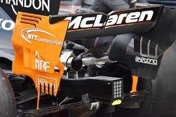 McLaren MCL32, ala posteriore e Monkey seat