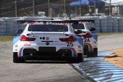 #25 BMW Team RLL BMW M6 GTLM: Bill Auberlen, Alexander Sims, Kuno Wittmer, #24 BMW Team RLL BMW M6 G