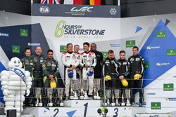 Podium GTE-Am: Race winners #61 Clearwater Racing Ferrari 488 GTE: Mok Weng Sun, Matt Griffin, Keita