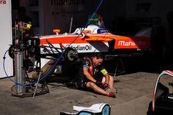 La monoposto di Felix Rosenqvist, Mahindra Racing