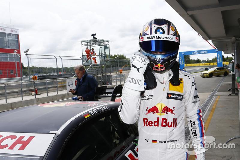 Pole position de Marco Wittmann, BMW Team RMG, BMW M4 DTM