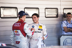 Mattias Ekström, Audi Sport Team Abt Sportsline, Audi A5 DTM and Bruno Spengler, BMW Team RBM, BMW M4 DTM in Parc ferme