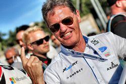 Malcolm Wilson, celebrates the win for M-Sport