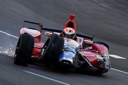 Crash: Alexander Rossi, Herta - Andretti Autosport Honda