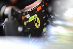 Ferrari 488 GTE steering wheel detail