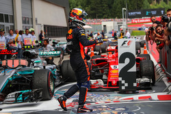 Third place Daniel Ricciardo, Red Bull Racing celebrates in parc ferme