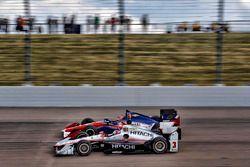 Carlos Munoz, A.J. Foyt Enterprises Chevrolet Helio Castroneves, Team Penske Chevrolet