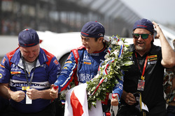 Takuma Sato, Andretti Autosport Honda with Michael Andretti, Andretti Autosport team owner and team