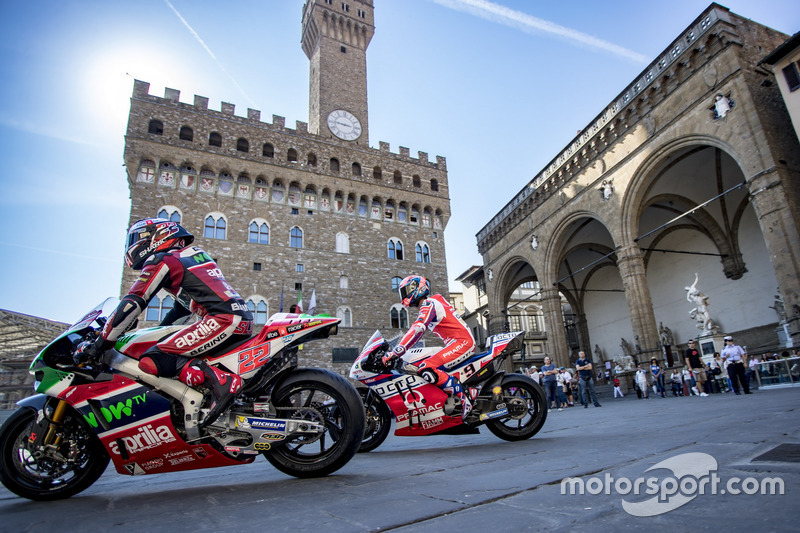 Sam Lowes, Aprilia Racing Team Gresini y Danilo Petrucci, Pramac Racing