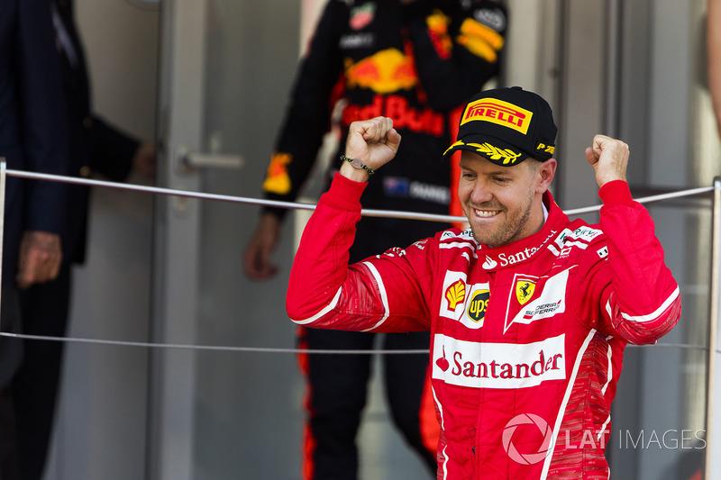 Neste período, Vettel venceu em Mônaco, terminou em segundo em Barcelona e ficou de fora do pódio no Canadá e no Azerbaijão. Total: 67 pontos.