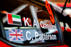 Détail de la voiture de Khalid Al-Qassimi, Chis Patterson, Citroën C3 WRC, Citroën World Rally Team