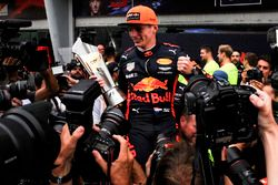 Race winner Max Verstappen, Red Bull Racing celebrates, the trophy