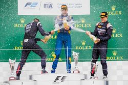 Podium: race winner Nicholas Latifi, DAMS, second place Luca Ghiotto, RUSSIAN TIME, third place Artem Markelov, RUSSIAN TIME