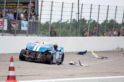 Crash von Marc Goossens, Braxx Racing Ford