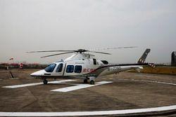 El helicóptero médico