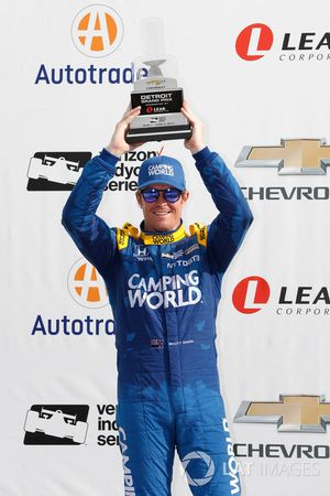 Podium : le deuxième Scott Dixon, Chip Ganassi Racing Honda