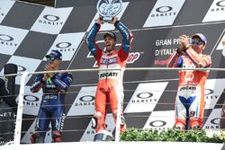 Podium: second place Maverick Viñales, Yamaha Factory Racing, Race winner Andrea Dovizioso, Ducati Team, third place Danilo Petrucci, Pramac Racing