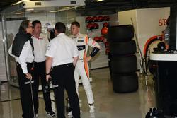Mansour Ojjeh, TAG, Zak Brown, McLaren Executive Director, Stoffel Vandoorne, McLaren and Eric Boullier, McLaren Racing Director