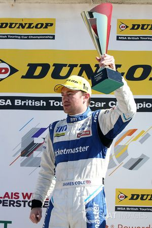Podium: race winner James Cole, Team BMR Subaru Levorg
