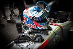 Helmet of Jake Hughes, Hitech Grand Prix, Dallara F317 - Mercedes-Benz