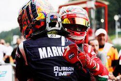 Il vincitore della gara Charles Leclerc, PREMA Powerteam, il secondo classificato Artem Markelov, RUSSIAN TIME