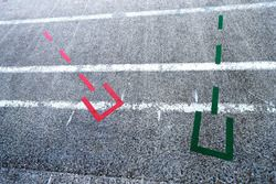 Pit lane markings for new rules on bike swaps