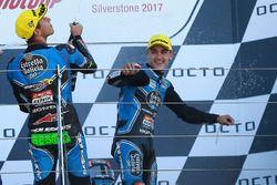 Podio: il vincitore della gara Aron Canet, Estrella Galicia 0,0, il secondo classificato Enea Bastia