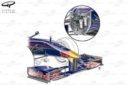 Red Bull RB5 2009 front wing and nose detail