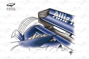 Williams FW28 mid wing and rear wing detail changes