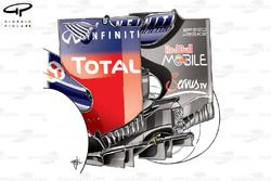 Red Bull RB8 rear wing (revised strakes at the base of the endplate)