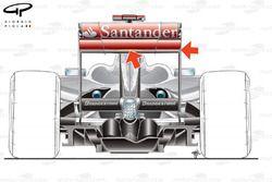 McLaren MP4-24 2009 Nurburgring rear wing