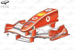 Nez de la Ferrari F2005, aux États-Unis