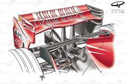 Aileron arrière de la Ferrari F2007