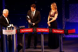 Amy Williams presents the trophy for the Rally Car of the year