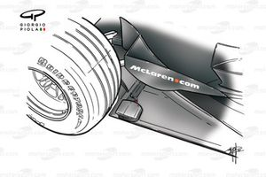 Capteurs sur le fond plat de la McLaren MP4-16, à Monza