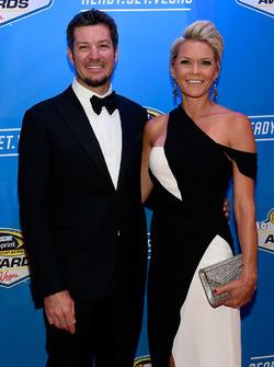 Martin Truex Jr., Furniture Row Racing Toyota with girlfriend Sherry Pollex
