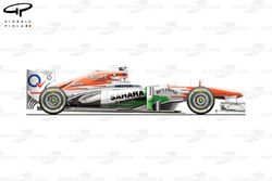 Force India VJM06 side view, launch car