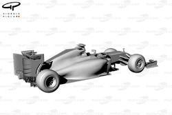 Ferrari F14 T rear 3/4 view