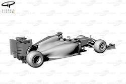 Ferrari F14 T, ракурс 3/4