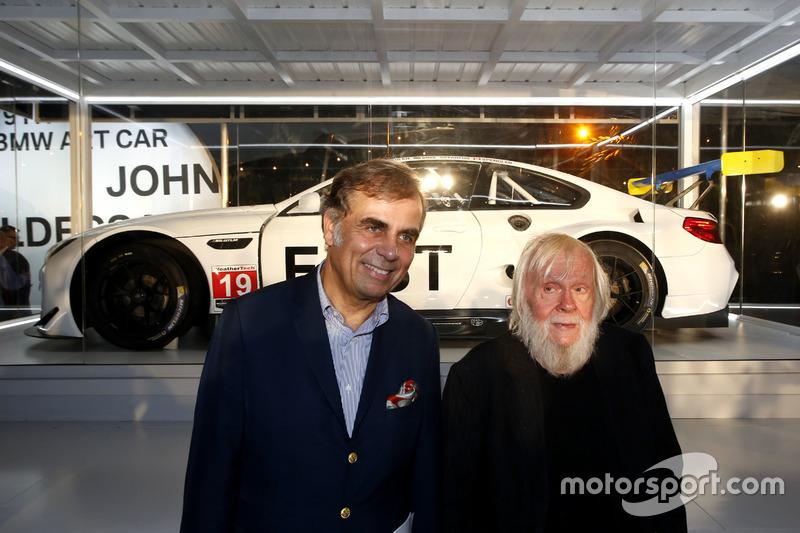 Ludwig Willisch, BMW North America Chief with John Baldessari at BMW