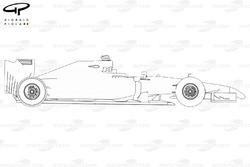 Vue de côté de la McLaren MP4-29